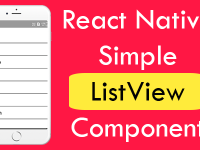 React Native Simple ListView Component iOS Android Example Tutorial