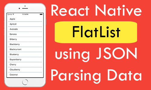 React Native Create FlatList using JSON Parsing Data Example Tutorial