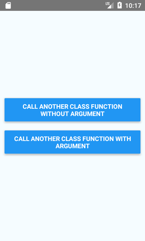 Call Another Class Function