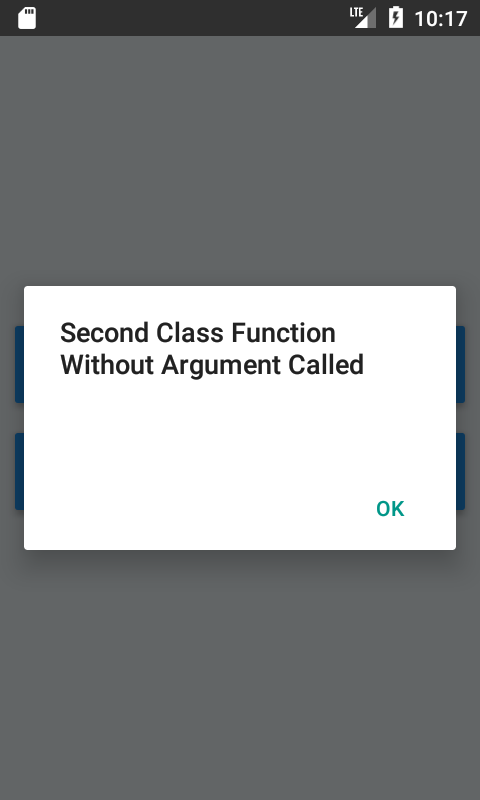How to Call Another Class Function From Default Class in