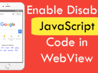 How To Enable Disable JavaScript Code in WebView React Native