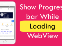 React Native Show Progress bar While Loading WebView Android iOS