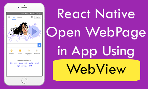 React Native Open Web Page in App Using WebView Android iOS Tutorial