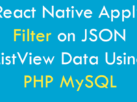 React Native Apply Filter on JSON ListView Data Using PHP MySQL