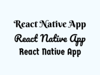 Add Custom External Text Fonts in React Native App Android iOS Tutorial