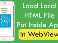 React Native Load Local HTML File Place Inside App in WebView