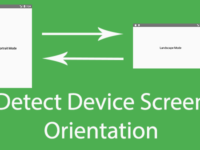 React Native Detect Device Screen Orientation is Portrait or Landscape