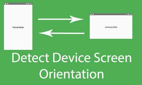 React Native Detect Device Screen Orientation is Portrait or Landscape