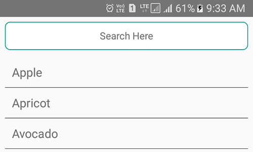 React Native Add Search Bar Filter on JSON Listview Example