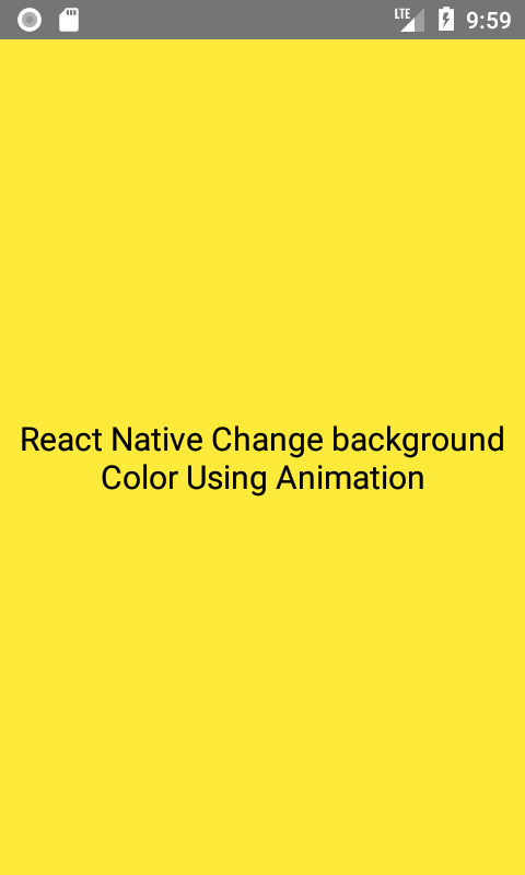 Change Background Color Using Animation