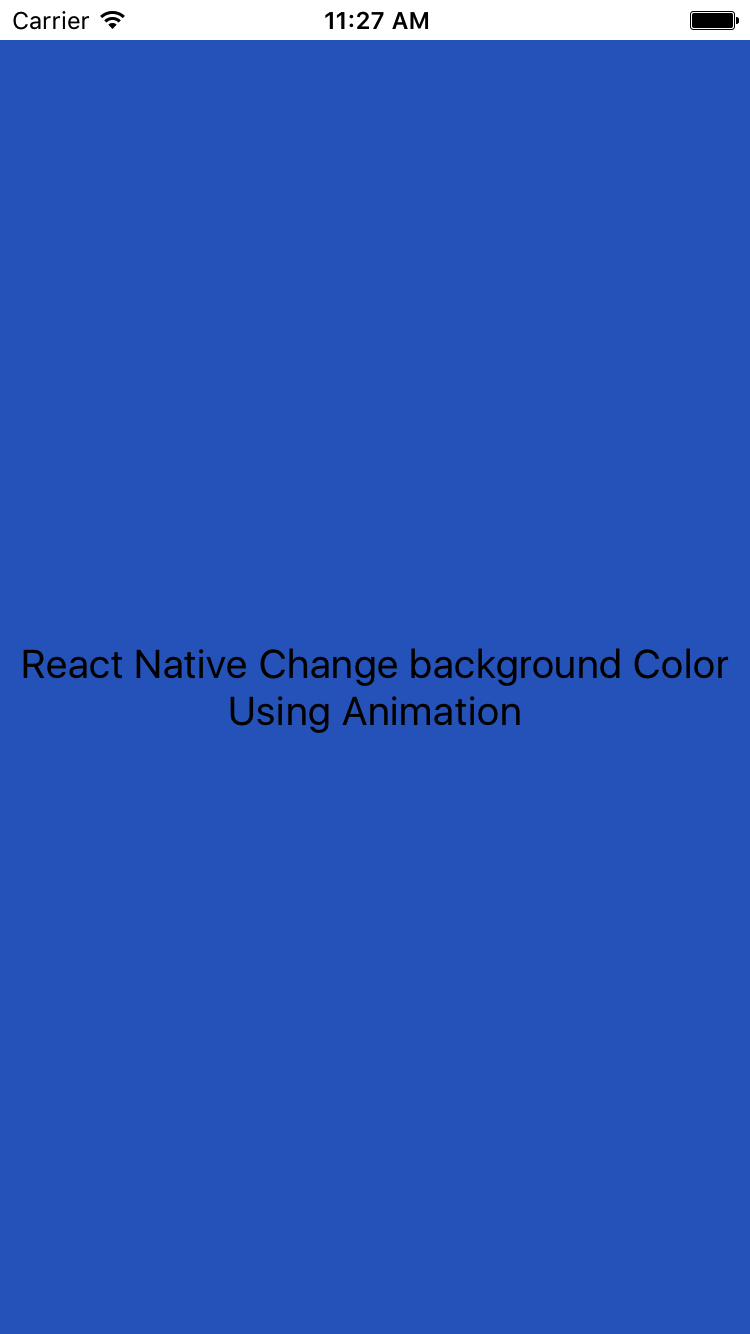 React Native Change Background Color Using Animation in