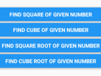 React Native Calculate Square Cube and Square Root Cube Root
