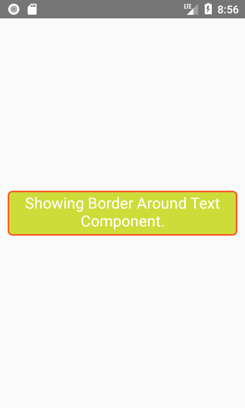 Show Border Around Text Component