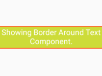 React Native Show Border Around Text Component Android iOS