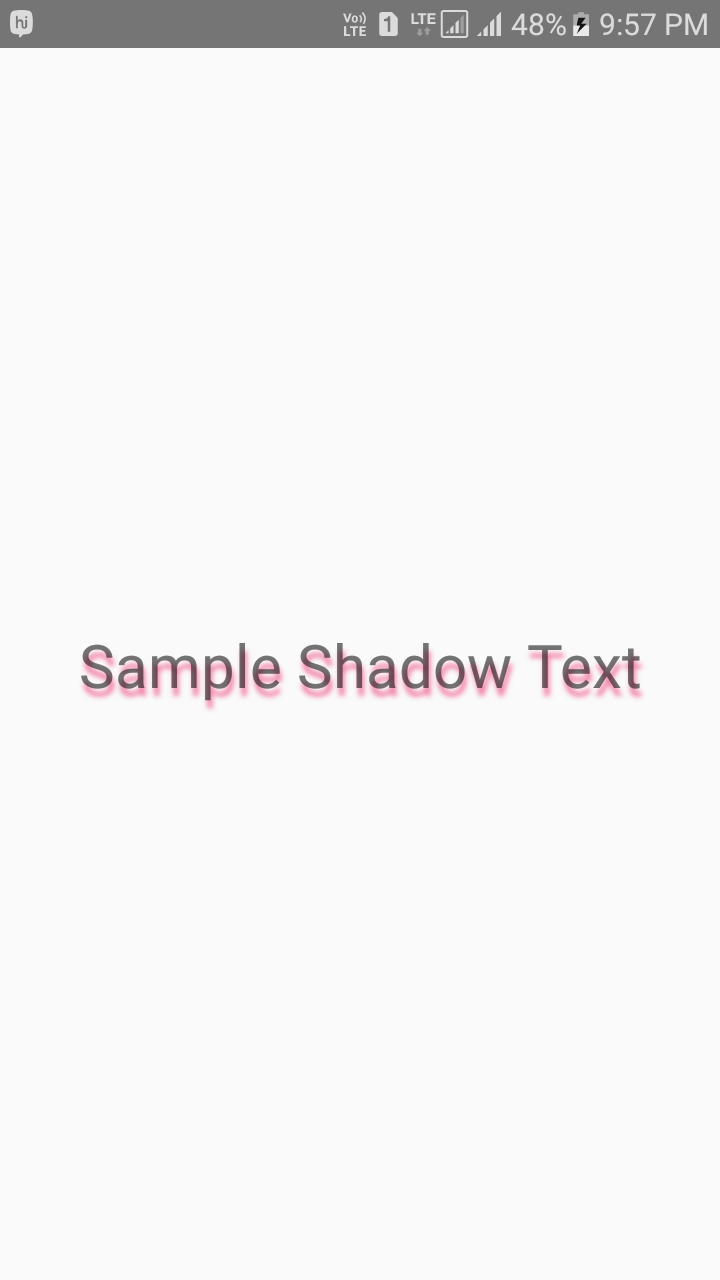 React Native Create Drop Shadow Effect Text in Android iOS