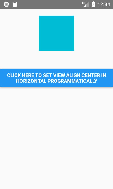 set View Align Horizontally Center dynamically