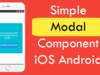 React Native Simple Modal Component iOS Android Example Tutorial