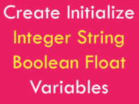 Create Initialize Integer String Boolean Float Variables in React Native
