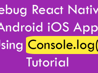 Debug React Native Android iOS App Using Console.log Tutorial