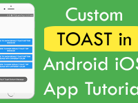 React Native Custom Common Toast for both Android iOS App Tutorial