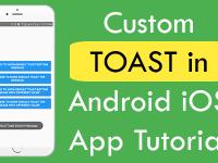 React Native Custom Common Toast for both Android iOS App Tutorial