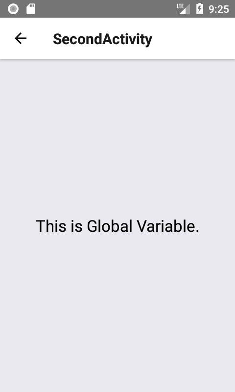 Create Global Scope Variables