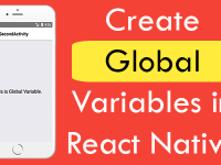 Create Global Scope Variables in React Native used between Activities