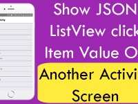 React Native Show JSON ListView click item value on another Activity Screen iOS Android Example