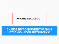 React Native set Padding dynamically on text component on button click