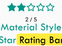 Custom Material Style Star Rating Bar component in React Native iOS Android