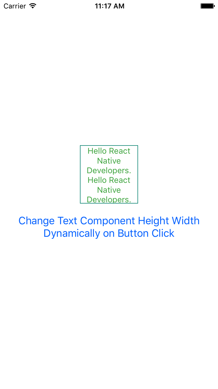 React Native Change Text Component Height Width Dynamically