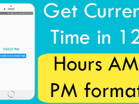 Get current time in 12 hours AM PM format in React Native Android iOS