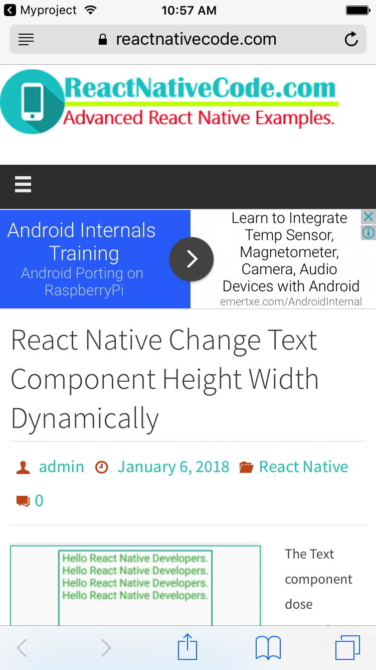 React Native open website URL in default browser iOS Android