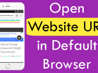 React Native open website URL in default browser iOS Android Example