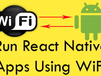 Run Test React Native apps in Real Android device using WiFi Network Windows
