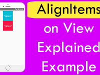 React Native Apply alignItems on View Explained With Example