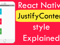 React Native justifyContent style Explained With Example Tutorial