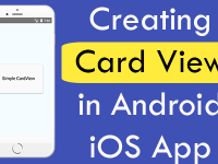 React Native Creating Card View in Android iOS App Example Tutorial
