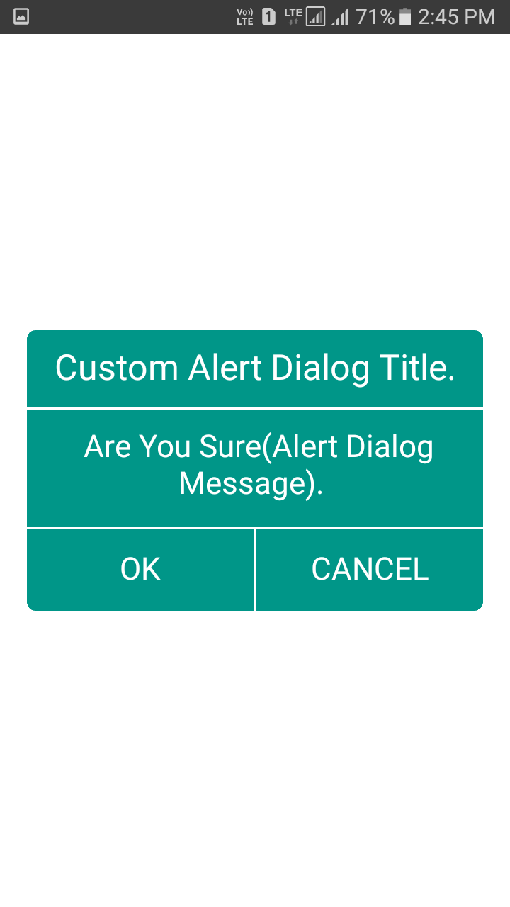 Create Custom Alert Dialog Box