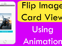 React Native Flip Image Card View Horizontally Using Animation Android iOS Example Tutorial