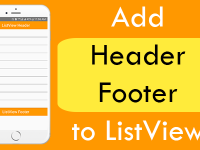 Add Header Footer to ListView Component in React Native iOS Android
