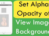 React Native Set Alpha Opacity of View Image Background Android iOS