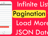 React Native Infinite List FlatList Pagination to Load More JSON Data dynamically on Button Click Tutorial