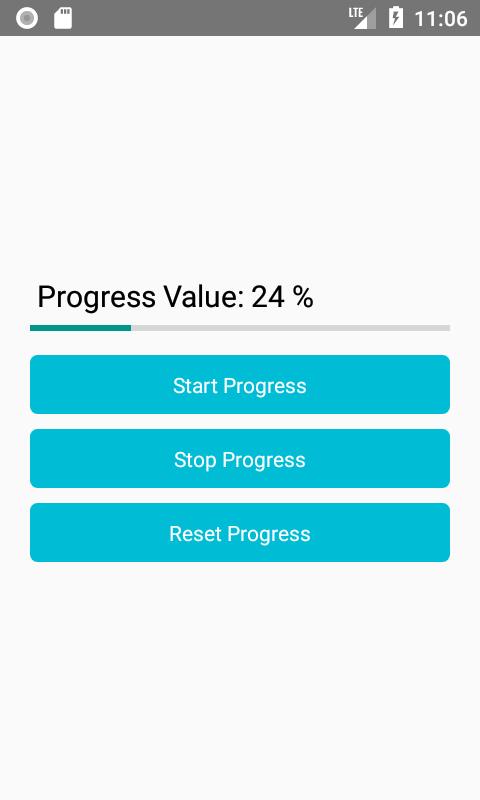 Horizontal ProgressBar Android iOS