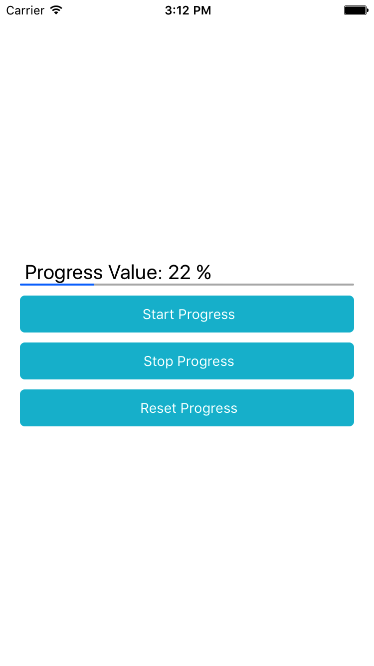 React Native Horizontal ProgressBar Android iOS Example Tutorial