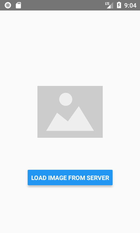 Show Default Image Before loading Real Image