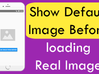 React Native Show Default Image Before loading Real Image PlaceHolder iOS Android Example