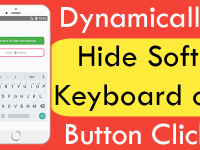 React Native Dynamically Hide Soft Keyboard on Button Click iOS Android