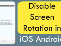Disable Screen Rotation Landscape Mode in Android iOS React Native