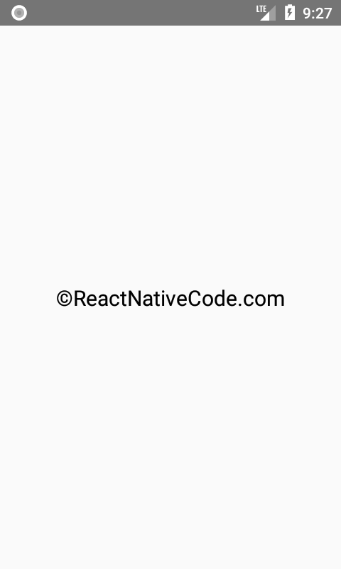React Native Show Copyright Symbol Icon In Text In Ios Android